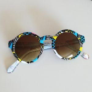 💛[3/$15] FOREVER 21 Fun Print Round Sunglasses
